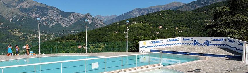 Piscines et baignade for Camping mercantour piscine